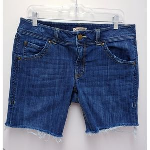 CAbi Distressed Cut off Jean Shorts Size 12